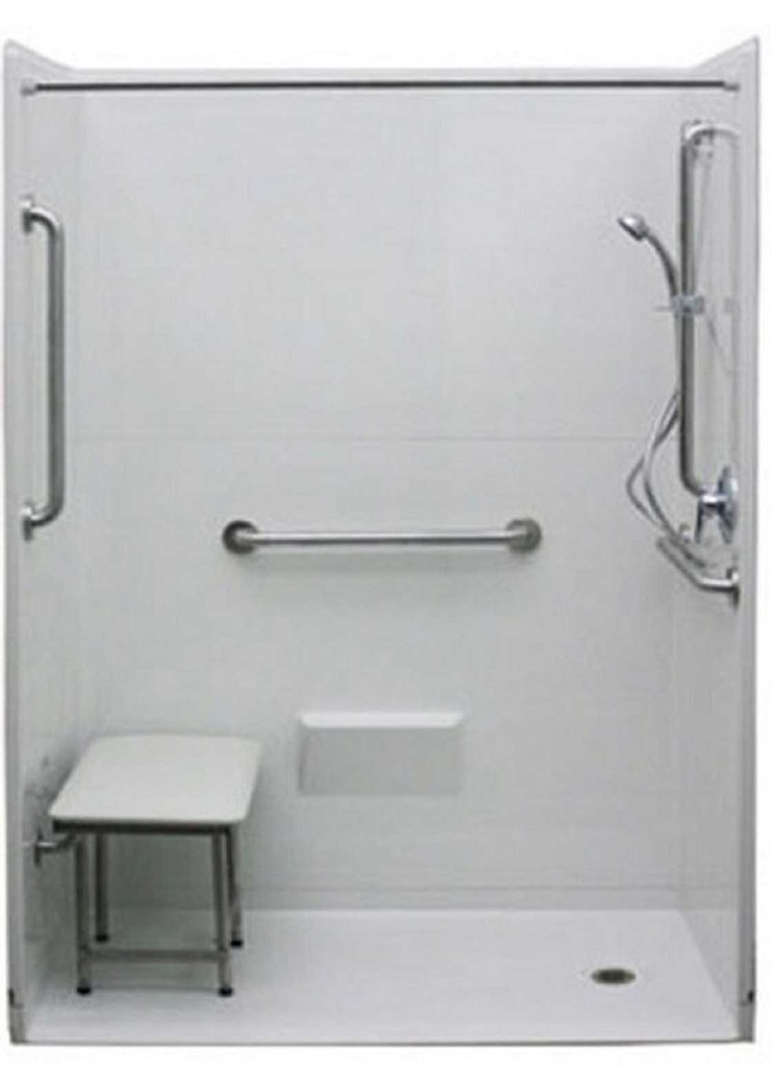 Wheelchair accessible freedom shower for A bathroom item that starts with p