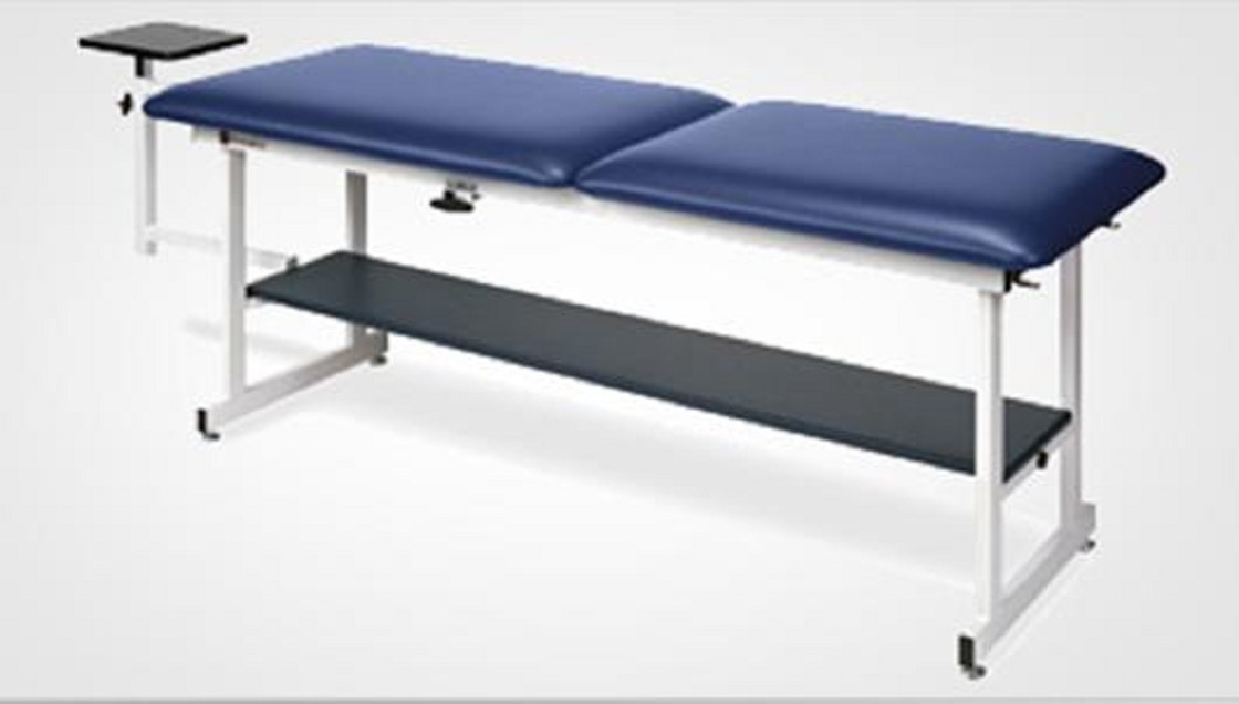 Two section top fixed height traction table for Table th fixed width