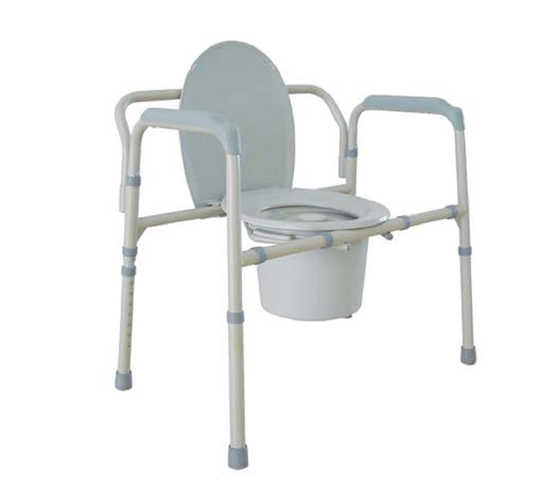 Bariatric all in one steel commode free shipping - Commode industrielle metal ...