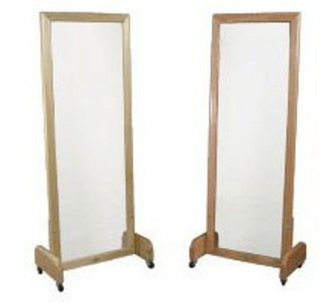 Floor stand posture mirror free shipping for Mirror stand
