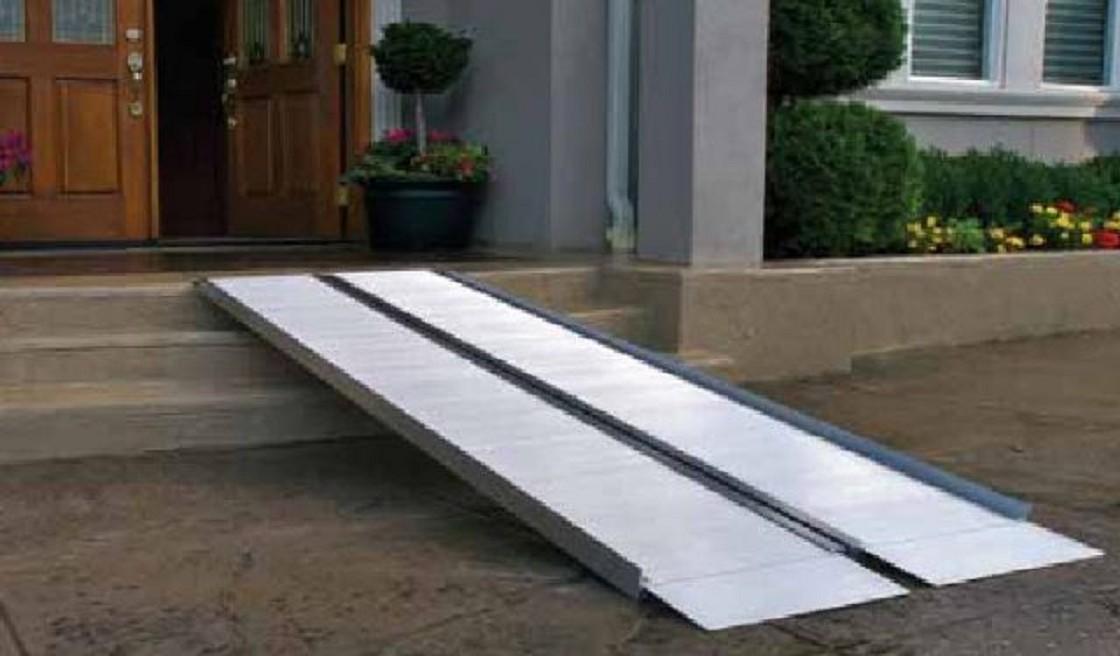 foldable aluminum wheelchair ramp
