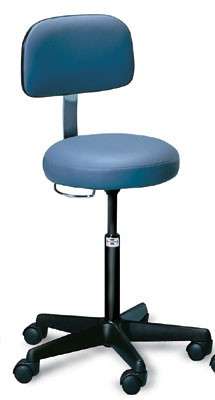 Air Lift Pneumatic Treatment Stool With Backrest