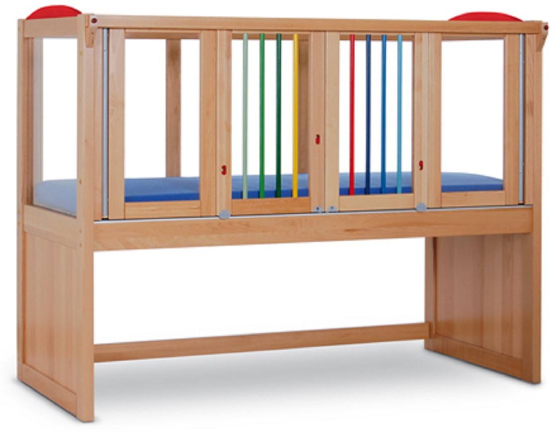 Special enclosed crib for premature babies - Ida Iv Wood Safety Bed