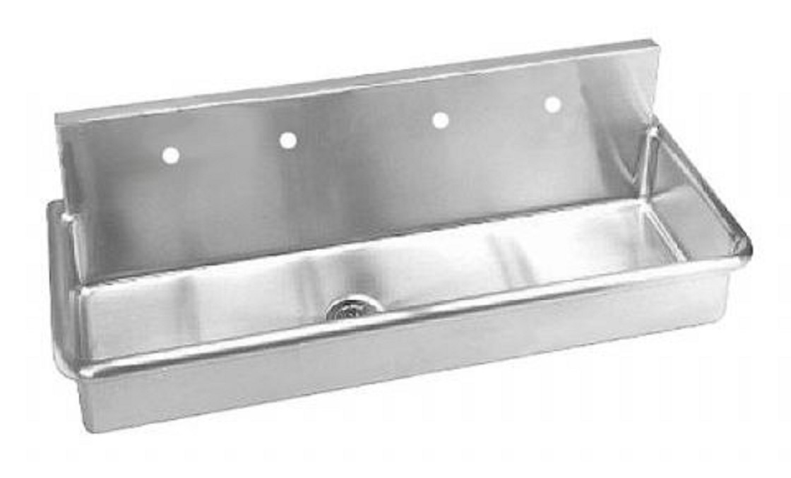 Stainless Steel Wall Mounted Multi Station Wash Up Sink