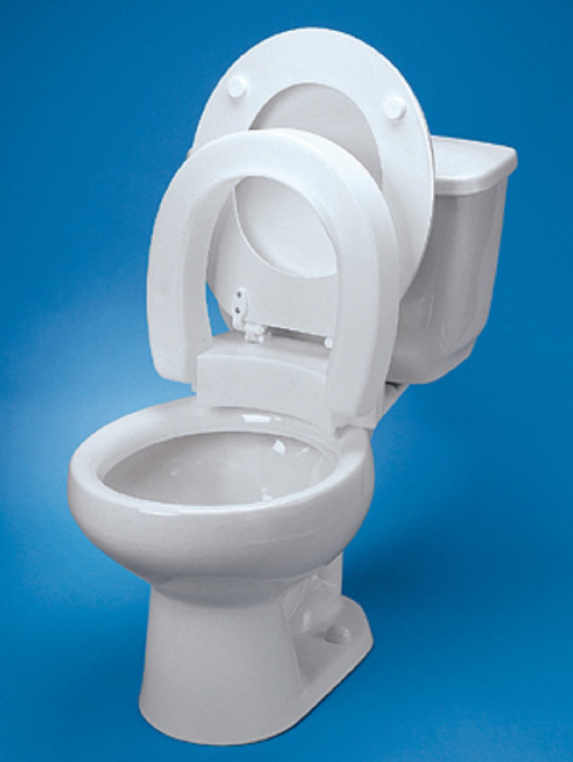 Hinged Elevated Toilet Seat