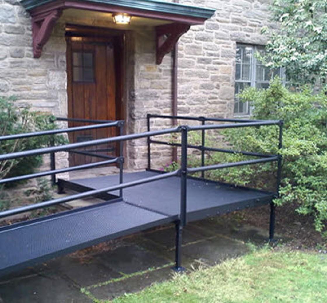 National ramp platforms for modular wheelchair ramps for Ada home