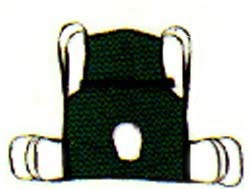 Hoyer One Piece Commode Lift Sling With Positioning Strap