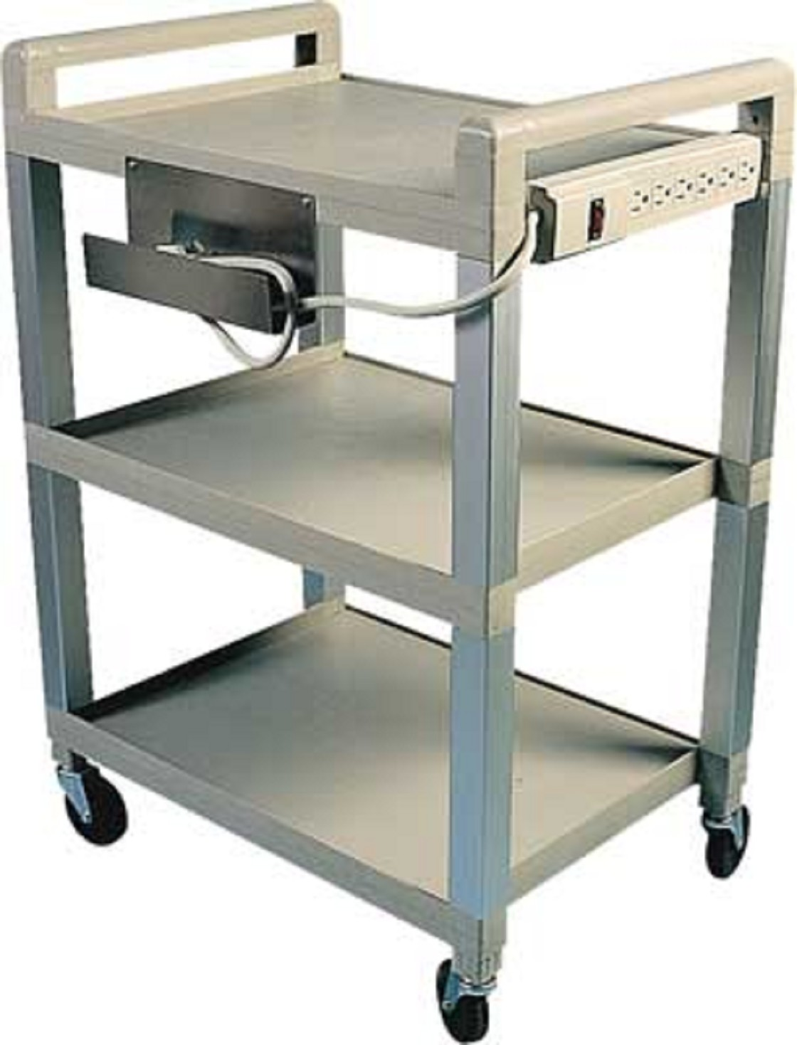 poly 3 shelf easy roll cart free shipping. Black Bedroom Furniture Sets. Home Design Ideas